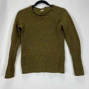 J.Crew Army Green Knitted Sweater Womens Size XS